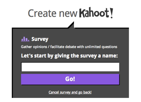 Create a survey to gather opinions and date from students