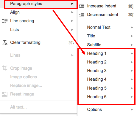 Adding a table of contents in google docs burlington for Table of contents google docs